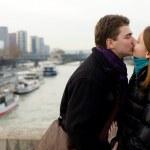 Romantic loving couple in Paris — Stock Photo #1970489