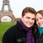 Happy romantic couple in Paris — Stock Photo #1970504