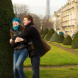 Stock Photo: Happy loving couple in Paris