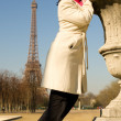 Royalty-Free Stock Photo: Happy beautiful woman in Paris, enjoying warm sp