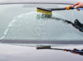 The washing a car. — Stock Photo