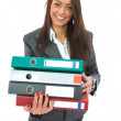 Business woman with folder - Stock Photo
