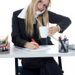 Business woman working — Stock Photo #1203344