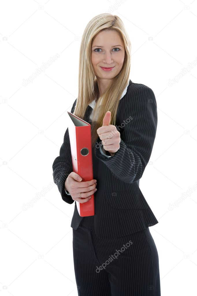 Business woman  working on isolated background  Foto de Stock   #1202730