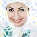 Beautiful woman in white sweater — Stock Photo #1219109