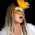 portrait fille avec masque — Photo