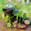 Royalty-Free Stock Photo: Glass and bottle of red wine