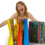 Expressive woman shopping — Stock Photo