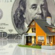 Real Estate concept on big dollar — Stock Photo