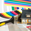Stock Photo: Colouring of house by paint.