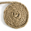 Variants of the rope with node on white — Stock Photo