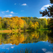 Autumn landscape of lake — Stock Photo #1374052