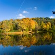 Stock Photo: Autumn landscape of lake