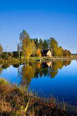 Autumn landscape of lake — Stock Photo