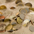 Stock Photo: Coin and financial crisis