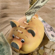 Stock Photo: Piggy Bank - Financial Crisis