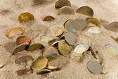 Coin and financial crisis — Stock Photo