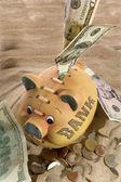 Piggy Bank - Financial Crisis — Stock Photo