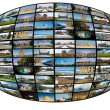 Royalty-Free Stock Photo: Television and internet technology