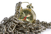 Clock with chain — Stock Photo