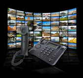 концепция технологии skype — Стоковое фото