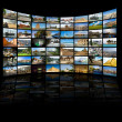 Stock Photo: Television and internet technology