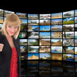 Television, communication and travel — Stock Photo #1462394