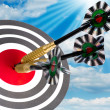 Stock Photo: Target with arrows on white