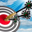 Target with arrows on white — Stock Photo #1466911