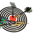 Target with arrows on white — Stock Photo #1466944
