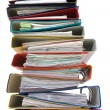 Isolated stack of folders — Stock Photo