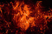 Close-up of fire and flames — Zdjęcie stockowe