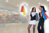 Business lady shopping — Stock Photo