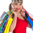Expressive woman shopping — Stock Photo