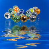 Color glass balls — Stock Photo