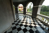 Floor with retro checkered pattern — Stock Photo