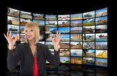 Television, communication and travel — Stock Photo