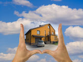 Estate, real, house, sales — Stock Photo