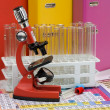 Laboratory ware and microscope — Stock Photo #1969494