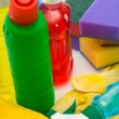 Subjects for sanitary cleaning a house — Stock Photo