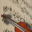 Violin and music notes — Stock Photo