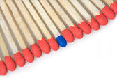 Set of red matches — Stock Photo