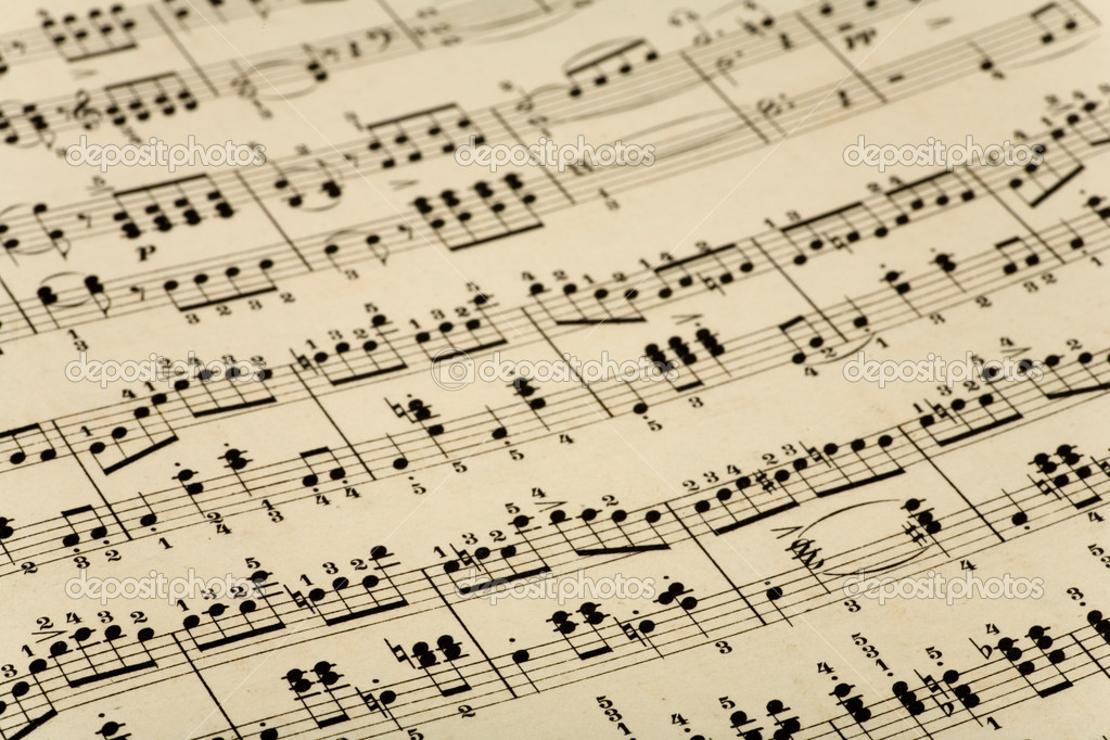 Close up of old music notes — Stock Photo #2249214