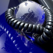 Glass globe with phone — Stock Photo #2429004