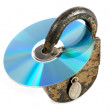 CD discs and padlock — Stock Photo