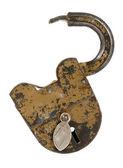 Old padlock isolated on white — Stock Photo