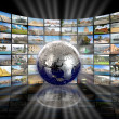 Television and internet technology — Stockfoto
