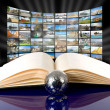 Television and internet technology — Stock Photo