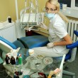 Beautiful dentist in medical office — Stock Photo