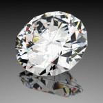 diamant juweel met reflecties — Stockfoto